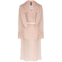 Moncler Trench coat Perle Giubbotto translúcido - Neutro