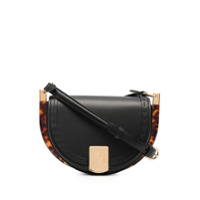 Fendi logo-embossed curved shoulder bag - Preto - FarFetch BR