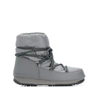 Moon Boot Ankle Boot Com Cadarço - Cinza