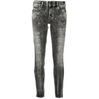 Diesel Calça Jeans Skinny Com Efeito Destroyed - Cinza