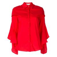 Juan Hernandez Daels Camisa Cafka Com Babados - Vermelho