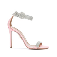 Aquazzura Sandália Flat Chain Reaction Com Salto 105Mm - Rosa