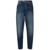 Department 5 Calça Jeans Cropped Cintura Alta - Azul