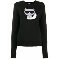 Karl Lagerfeld Suéter 'ikonik Choupette' - Preto
