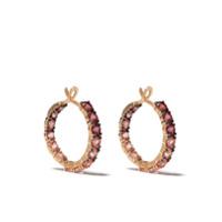 Brumani Par De Brincos De Argola Em Ouro Rosé 18K Com Diamante - Rose Gold And Pink