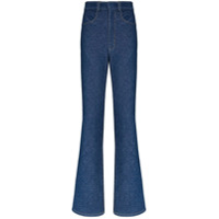 Alled-Martinez Calça Jeans Reta Cintura Alta - Azul