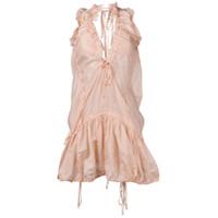 Dsquared2 Vestido Curto Com Babados - Rosa
