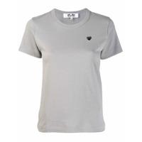 Comme Des Garçons Play Camiseta Com Bordado De Coração - Cinza