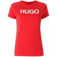 Hugo T-Shirt Com Estampa - Vermelho