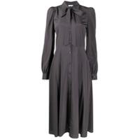 P.a.r.o.s.h. Vestido De Seda Com Amarração Na Gola - Cinza