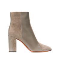 Santoni Contrasting Panel Ankle Boots - Marrom