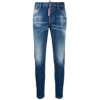 Dsquared2 Calça Jeans Skinny Cropped Com Efeito Destroyed - Azul