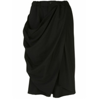 Yohji Yamamoto Calça Cropped Desconstruída - Preto