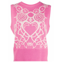Charles Jeffrey Loverboy Sleeveless Knitted Top - Rosa