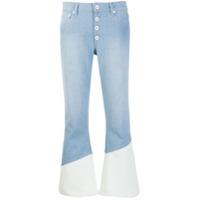 Each X Other Calça Jeans Flare Bicolor - Azul