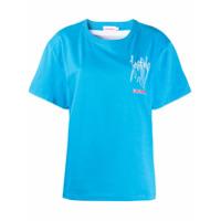 Charles Jeffrey Loverboy Camiseta Com Estampa Fotográfica Na Parte Posterior - Azul
