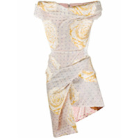 Vivienne Westwood Vestido Drapeado Com Estampa Floral - Neutro