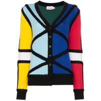 Charles Jeffrey Loverboy Cardigan Color Block De Tricô - Estampado
