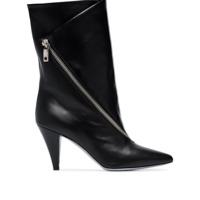 Givenchy Ankle Boot De Couro Com Detalhe De Zíper - Preto