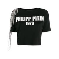 Philipp Plein Camiseta Com Vazado Nos Ombros - Preto