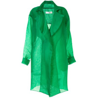 The 2Nd Skin Co. Trench Coat TranslãºCida - Verde