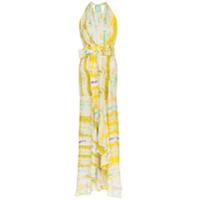 Silvia Tcherassi Vestido Longo Tie Dye Ardell - Amarelo