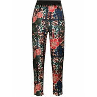 Moncler Floral Print Cropped Trousers - Azul