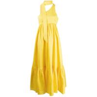 Zimmermann Vestido Longo Julia Com Ombro Único - Amarelo