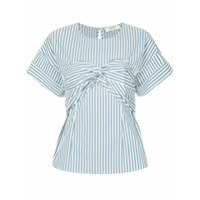 Sea Riviera Striped Corset T-Shirt - Branco