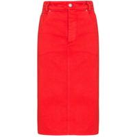 Kwaidan Editions Saia Lápis Jeans - Vermelho