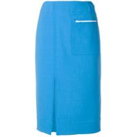 Kwaidan Editions Saia Com Fenda Frontal - Azul