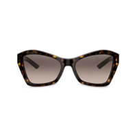 Prada Eyewear Óculos De Sol Geométrico - Marrom