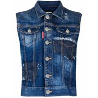 Dsquared2 Colete Jeans Com Abotoamento - Azul