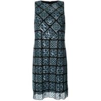 Elie Tahari Vestido Helena Com Estampa Geométrica - Azul
