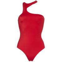Fantabody Body Assimétrico Com Vazado - Vermelho
