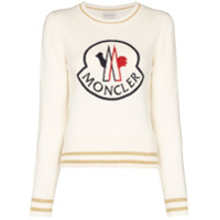 Moncler Boné Com Logo Bordado - Branco
