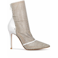 Gianvito Rossi Riccy Embellished Ankle Boots - Prateado