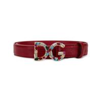 Dolce & Gabbana Cinto Bejeweled Dg - Vermelho