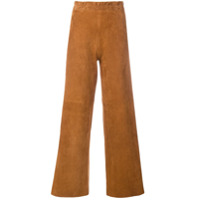 Sylvie Schimmel Textured Flared Trousers - Marrom