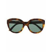 Celine Eyewear Óculos De Sol Redondo - Marrom