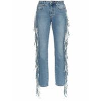 Msgm Calça Jeans Com Franjas - Azul