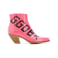 Golden Goose Deluxe Brand Ankle Boot De Couro - Rosa