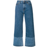 Simon Miller Calça Jeans Flare Cropped - Azul