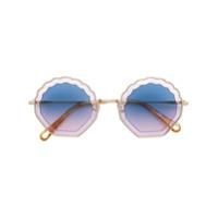 Chloé Eyewear Óculos De Sol - Amarelo
