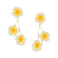 Jennifer Behr Par De Brincos Florais - Amarelo