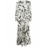 Mcq Alexander Mcqueen Vestido Longo Com Estampa Floral - Branco
