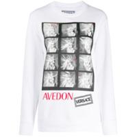 Versace Camiseta Com Estampa Avedon - Branco