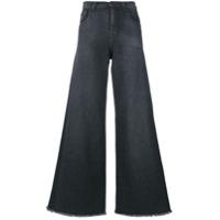 Andrea Ya'aqov Calça Jeans Pantalona - Cinza
