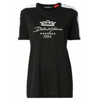 Dolce & Gabbana Camiseta Com Logo Bordado - Preto