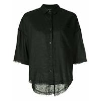 Nobody Denim Breeze Shirt Raw Black Linen - Preto